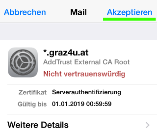 iphone ssl change info